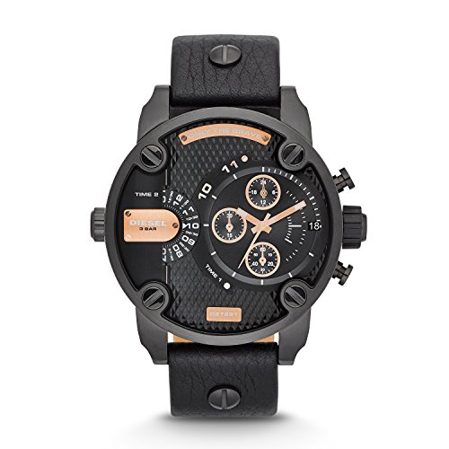 - Diesel Men's DZ7291 Little Daddy Analog Display Analog Quartz Black Watch