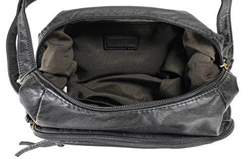 Bag Tri H1969 Pocket Black Trendy Scarleton Crossbody XBqIf1