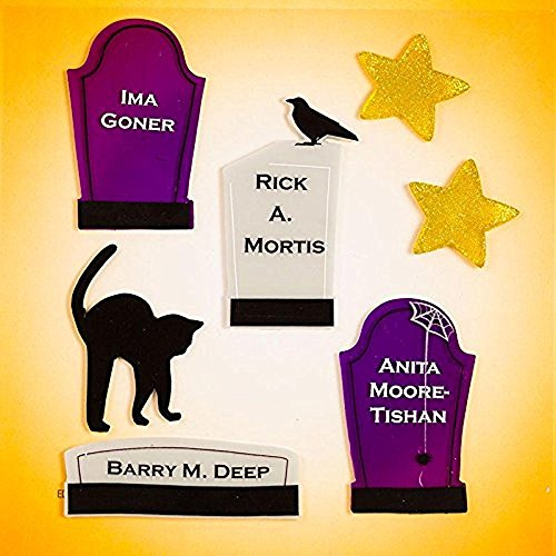 Design Ideas GelGems Halloween Themed Gel Window Clings (Tombstones, Small Bag)