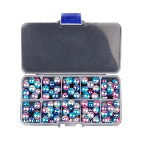 Satin Pierced Earrings - East Majik Tiny Satin Beads Colorful Loose Beads Kit Earring Making £¨10 mm£