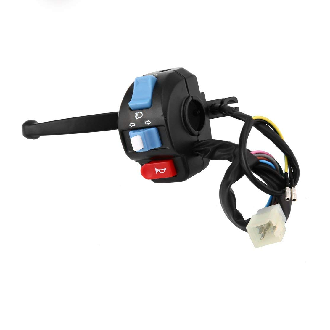 LouiseEvel215 Universal Motorcycle Switchs Black Left Brake Lever Light Switch Control Fit For Scooter Moped GY6 50cc 150