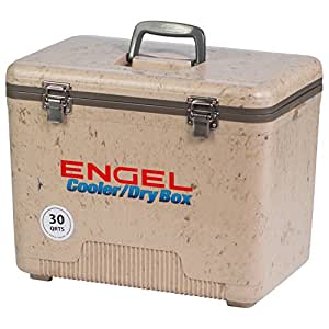 ENGEL COOLERS 30 QUART COOLER/DRY BOX - GRASSLAND