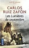 Les lumières de Septembre par Ruiz Zafón