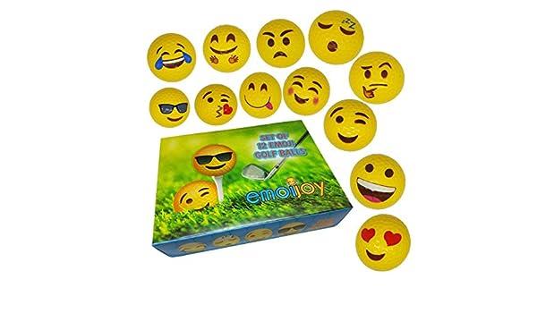 Emoji Pelotas de golf - Juego de 12 Emoji Diseños - Bola de ...