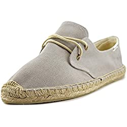 Soludos Lace Up Espadrille Solid Women US 9 Gray Espadrille