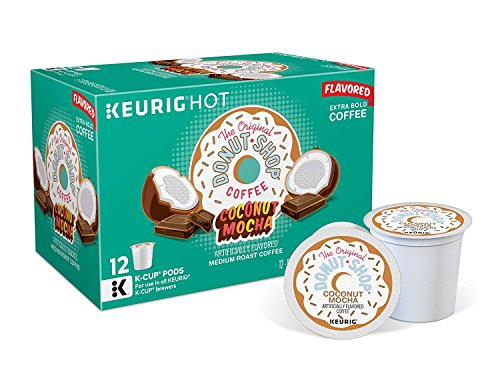 - The Original Donut Shop Coconut Mocha Medium-Roast Coffee K-Cup Pods, 12-Count Box, (Pack of 3) [Retail Packaging]
