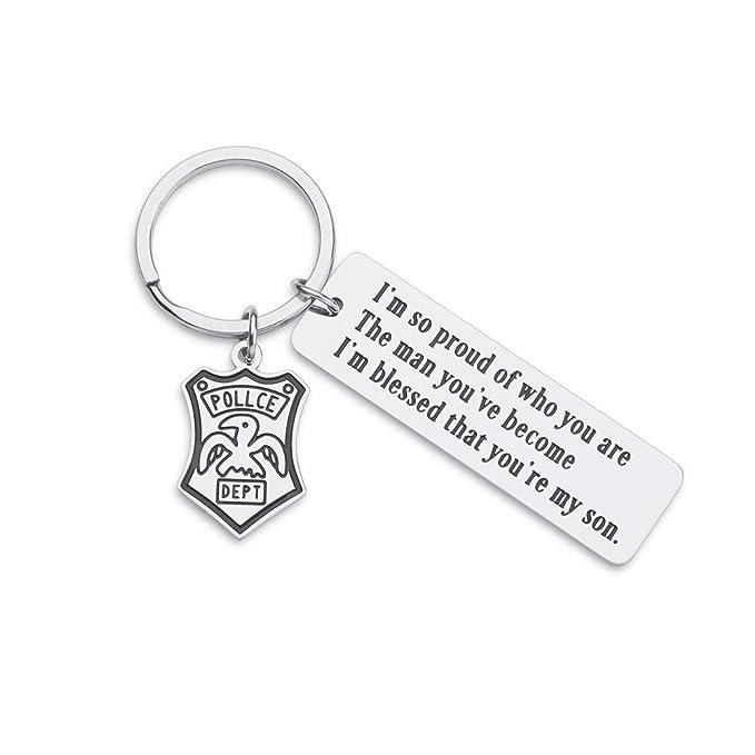 Amazon.com: Llavero de policía, regalo para hijo, policía ...