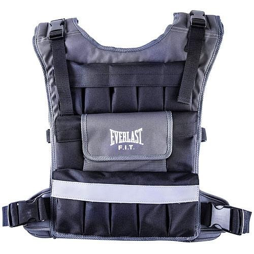 Image of Boxing Everlast P00000456 40 LB Weighted Vest W/Reflective Black/Grey 40 LB