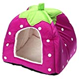 Spring fever Rabbit Dog Cat Pet Bed Small Big Animal Snuggle Puppy Supplies Indoor Water Resistant Beds Purple L (16.916.90.8 inch)