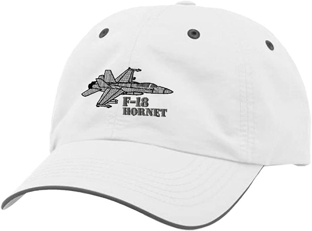 F-18 Hornet Aircraft Name Embroidery Richardson Polyester Water Repellent Cap