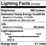 MR16 LED Light Bulbs with GU10 Base 50W Equivalent Halogen Replacement Warm White 3000K 5W AC 100-240V UL listed Spotlight with 450 Lumen 6 Packs By COOWOO