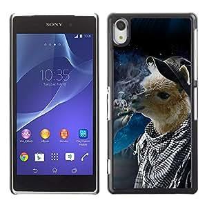 CaseCaptain Carcasa Funda Case - Sony Xperia Z2 / Space Llama Hipster /