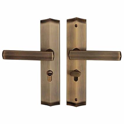 Cerradura mecánica de la puerta de madera interior Cerradura silenciosa de la puerta del dormitorio del