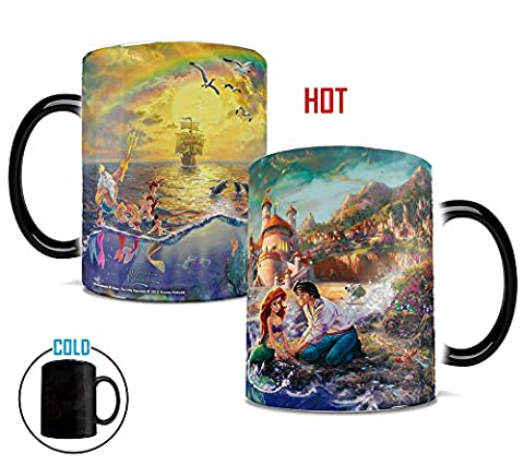 Morphing Mugs Disney Little Mermaid Thomas Kinkade Art Ariel Heat Changing Mug 11 Ounces