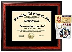 amazon com certificate frame college diploma frames wood satin