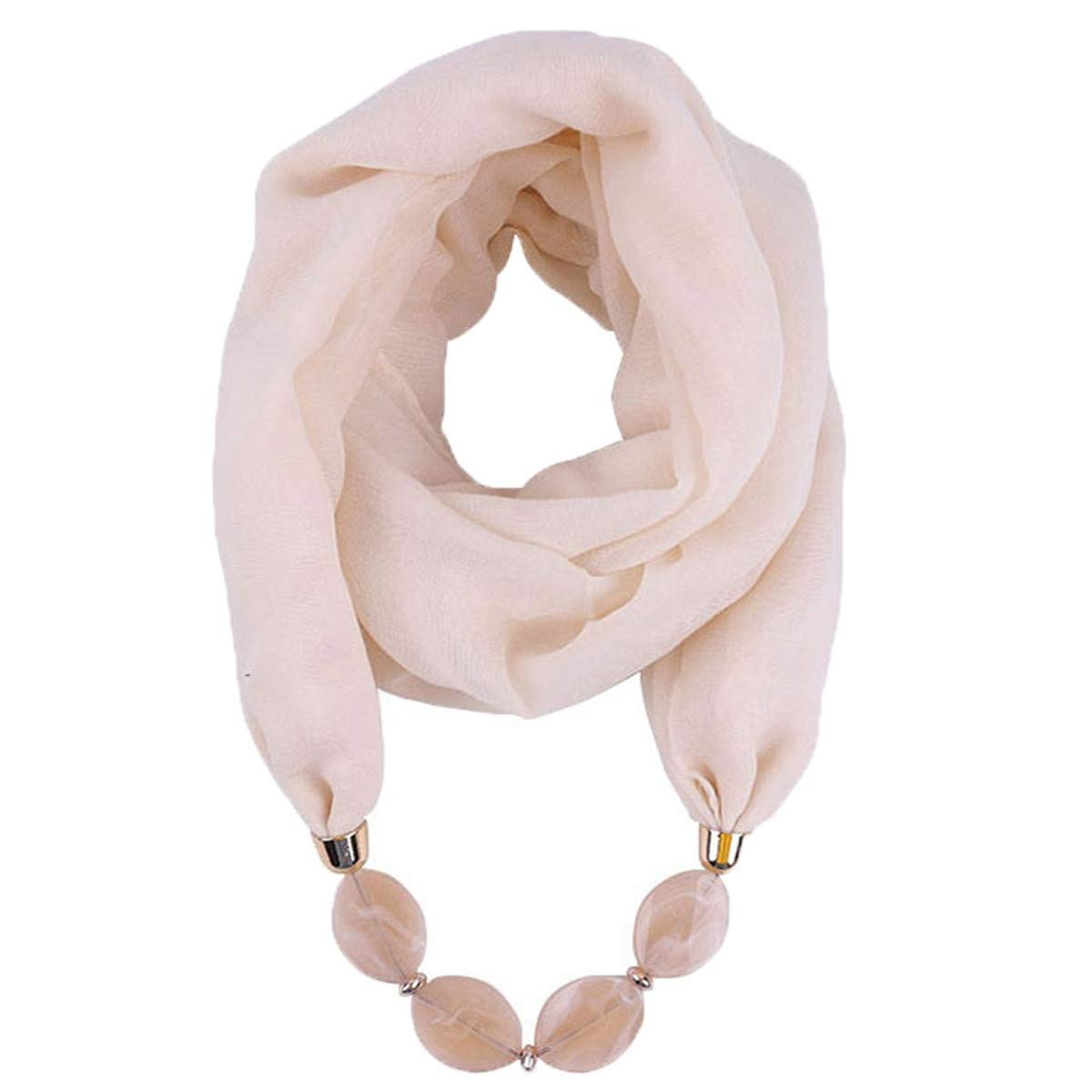 Thenxin Womens Jewelry Scarf Bead Pendant Necklace Bohemia Infinity Loop Scarves