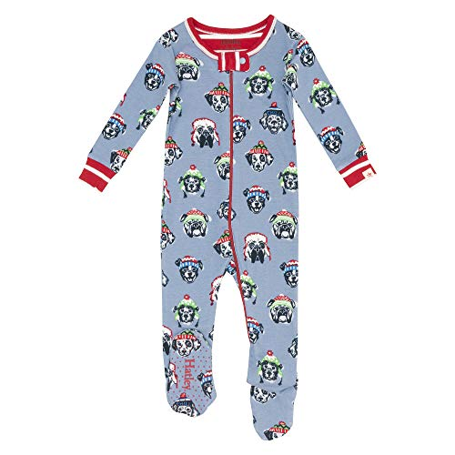 Hatley Baby Organic Cotton Footed Coverall - Cozy Pups - 12-18 Months - 79-84 cm Blue ()