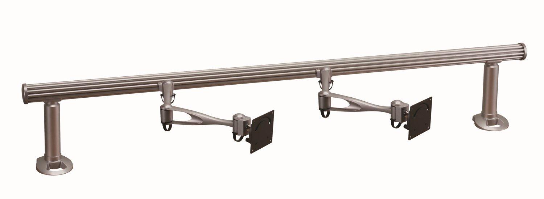Cotytech Wandhalterung für Tischhalterung für zwei Monitore beidseitig Horizontal Delux