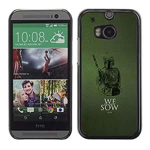 LECELL--Funda protectora / Cubierta / Piel For HTC One M8 -- No sembramos --