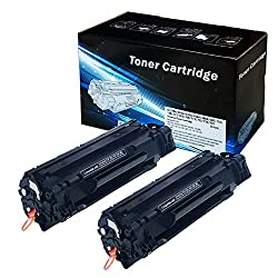 2 Pack 2INKJET Universal Replacement For HP CE285A 85A & Canon 125 CRG125 3484B001AA Toner Cartridge