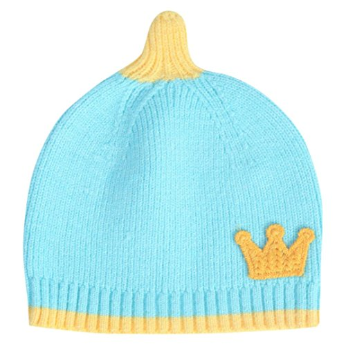 - Baby Clothes, Egmy Cute Baby Boys Girls Kids Crown Pattern Hat Children Knitting Warm Hats Cap (Blue)
