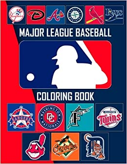 51ba9297961 Amazon.com  Major League Baseball Coloring Book  MLB Team Logos  (9781981940394)  Baseball Spirit  Books