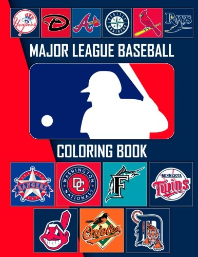 Major League Baseball Coloring Book: MLB Team Logos