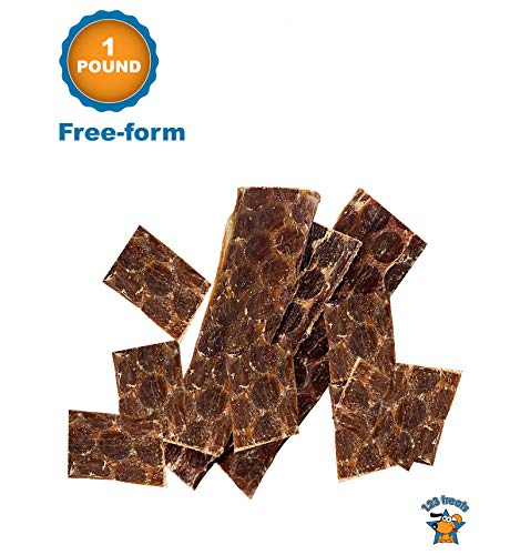 123 Treats - Free-Form (1 Pound) Beef Dog Treats Esophagus for Dogs 100% Natural Healthy Chews for Dogs - All Natural Jerky Meat Free of Preservatives, Hormones, Additives, Chemicals & Antibiotics