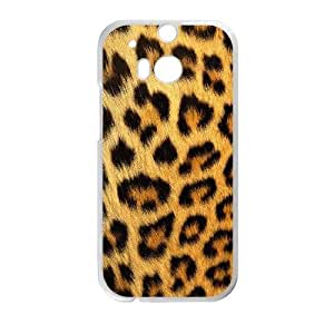 HTC One M8 Phone Case White Snow leopard HJF676627