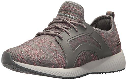 Skechers Bobs Damen Sneaker Squad Glossy Finish Grau/Rose Dark Taupe