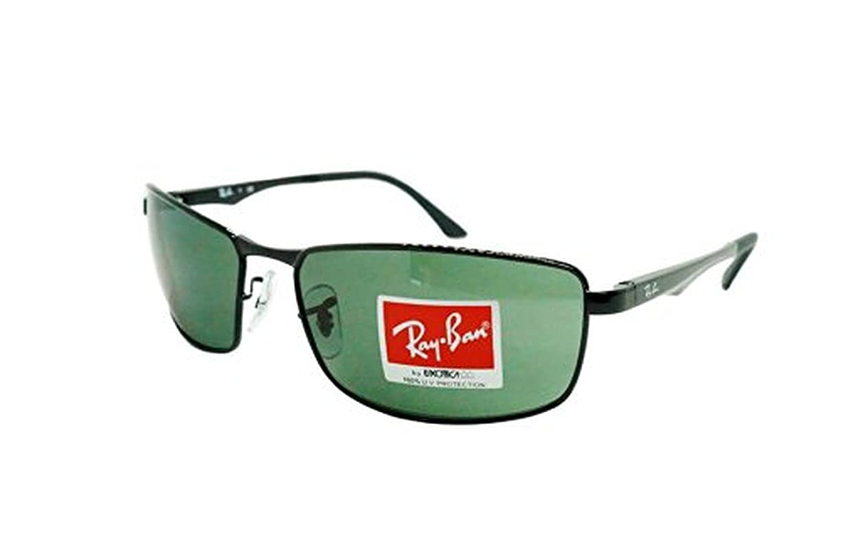 e414d6736f7 Amazon.com  Ray-Ban RB3498 Sunglasses Black   Green 61mm   Cleaning Kit  Bundle  Clothing