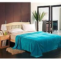Soft Flannel Fleece Blanket, Blue, King Size, 210 * 200 cm