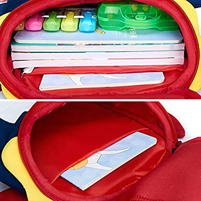 LOCOMO Toddler Kid School Bag Dinosaur Dragon Preschool Kindergarten Backpack Neoprene Cute BPK003LBLU