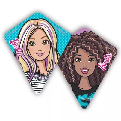 X-Kites Flip Flop Barbie Reversible Poly Diamond Kite