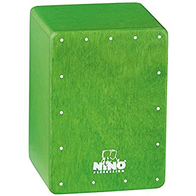 Nino Percussion NINO955GR Mini Cajon Shaker, Green: Musical Instruments