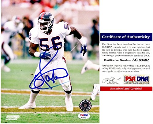 Lawrence Taylor Signed - Autographed New York Giants 8x10 Photo - PSA/DNA Certificate of Authenticity (Lawrence Taylor Autographed Photo)