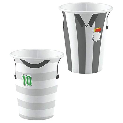 CAPRILO Lote de 24 Vasos Decorativos Fútbol(2 Modelos ...
