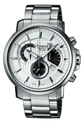 CASIO Edifice EF-506D-7AVEF - Reloj de Cuarzo con Correa de Acero Inoxidable para Hombre (con luz, cronómetro), Color Plateado: Amazon.es: Relojes