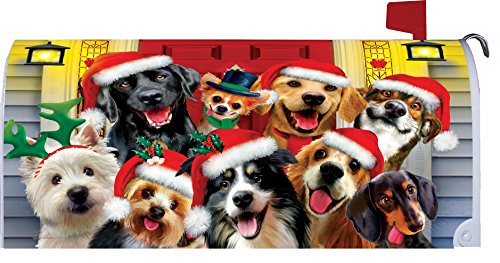 Christmas dogs mailbox makover cover vinyl witn magnetic for Custom decor inc