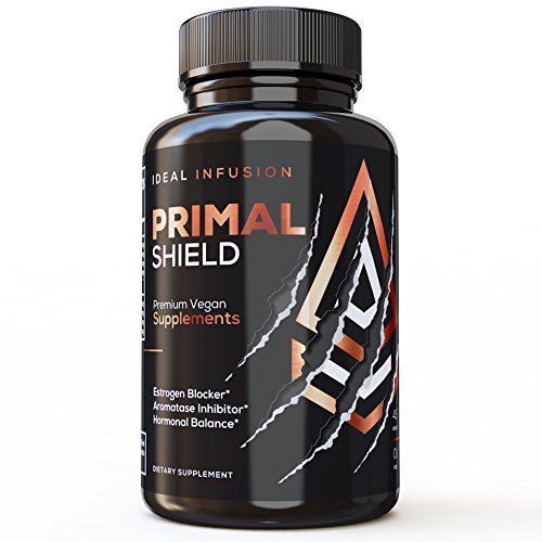 - Primal Shield :: High Potency Estrogen Blocker for Men & Hormonal Balance for Women - Thyroid Support, Liver Health, Muscle Tone, Skin Health - Vegan - 45 Servings