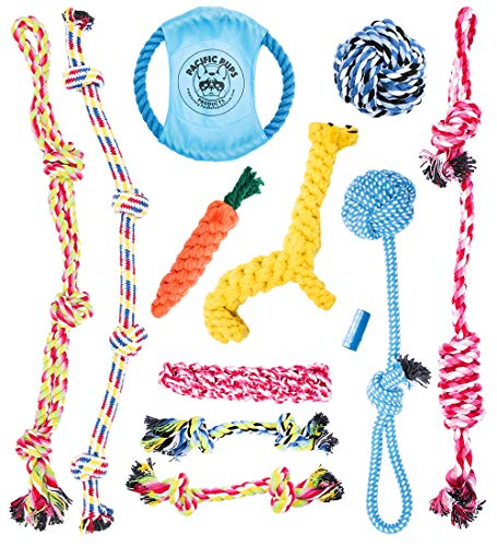 Pacific Pups Products Supporting pacificpupescue.com – Dog Rope Toys for Aggressive CHEWERS – Set of 11 Nearly…