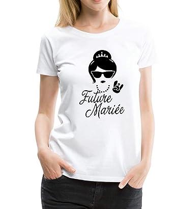 61616383ef8 Spreadshirt EVJF Future Mariée Princesse T-Shirt Premium Femme ...