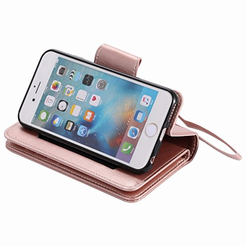 Yiizy Apple IPhone 6 IPhone 6s Funda, Chica Repujado Diseño Solapa Flip Billetera Carcasa Tapa Estuches Premium PU Cuero Cover Cáscara Bumper Protector Slim Piel Shell Case Stand Ranura para Tarjetas