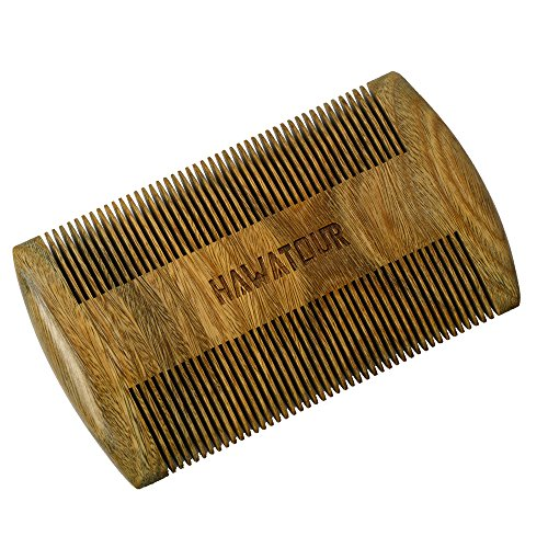 HaWaTour Green Sandalwood Beard Comb product image