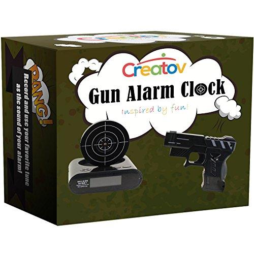 Gun Alarm Clock Target Wake Up Shooting Game Toy Novelty: Creatov Alarm Clock With Infrared Laser Gun