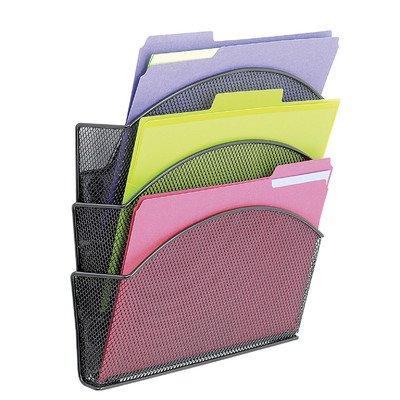 Safco Onyx Magnetic Mesh Triple File Pocket (Set of 6)