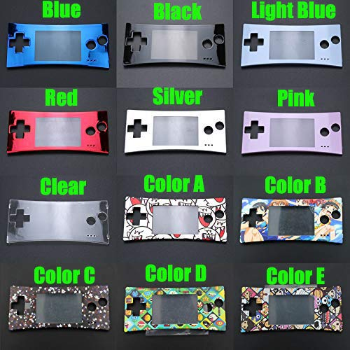 Faceplate Cover Front Shell Housing Case Replacement for Nintendo Game Boy Micro GBM (Color E) (Gameboy Color Faceplates)