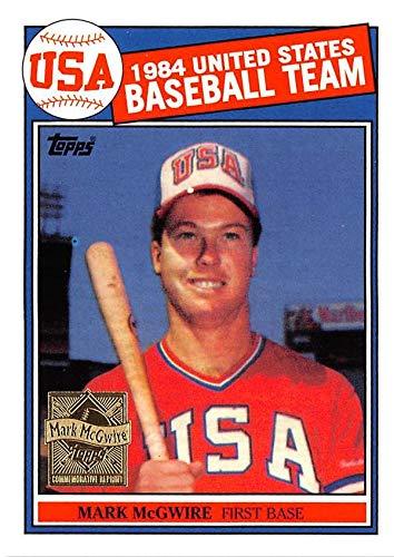 Mark McGwire baseball card 1999 Topps #401 Rookie Reprint (Team - 1999 Best Card Team Rookie