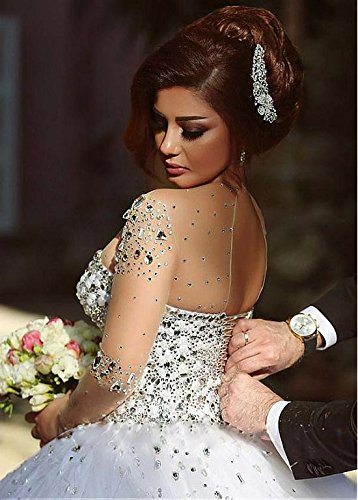 3561edc968 Aeropost.com Saint Lucia - Angel Formal Dresses Womens Long Sleeve Beading  Rhinestone Tulle Wedding Dress