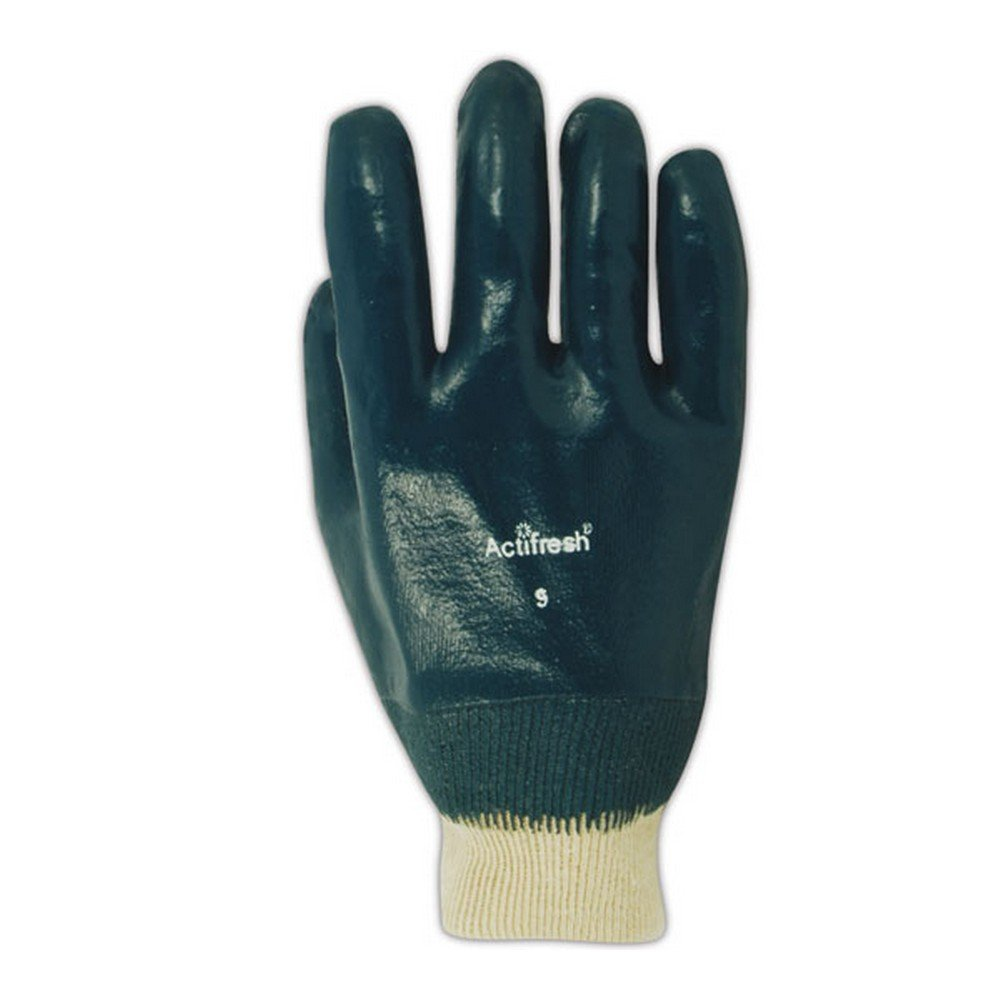 Magid Glove & Safety 4839-8 Magid MultiMaster Lightweight Cotton Gloves with Full Nitrile Coating, 10, Natural, 8 (Pack of 12)